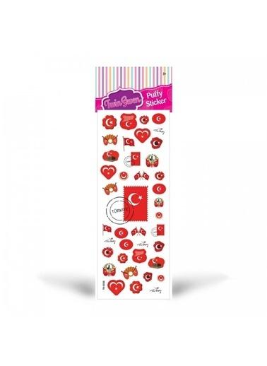 Artikel Türk Bayrağı Puffy Sticker 6,5x17 cm, Puffy Çıkartma, Puffy Yapıştırmaları Renkli